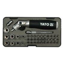 Bithegy és dugókulcs készlet 42 részes racsnis behajtóval YATO